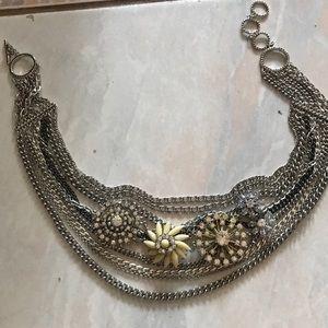 Stella & dot metropolitan mixed chain necklace